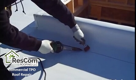Flat roof repair at ResCom Roofing